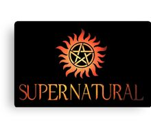 Supernatural logo in RED Canvas Print