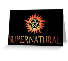 Supernatural logo in RED Greeting Card