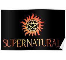 Supernatural logo in RED Poster