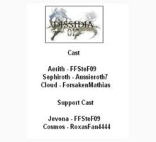 Back T-Shirt Only - Dissidia 012 REPORTS Cast by FFSteF09
