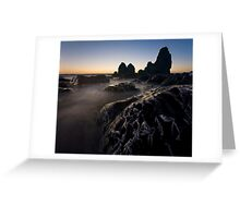 Carving Stone - Rodeo Beach Greeting Card