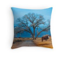 An Unusual Hitchhiker Throw Pillow