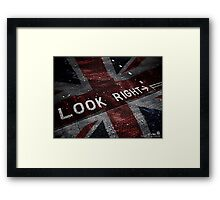 Look Right Union Jack by Leon Le Baron Framed Print
