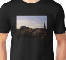 Edinburgh Castle from the National Museum of Scotland.   Unisex T-Shirt