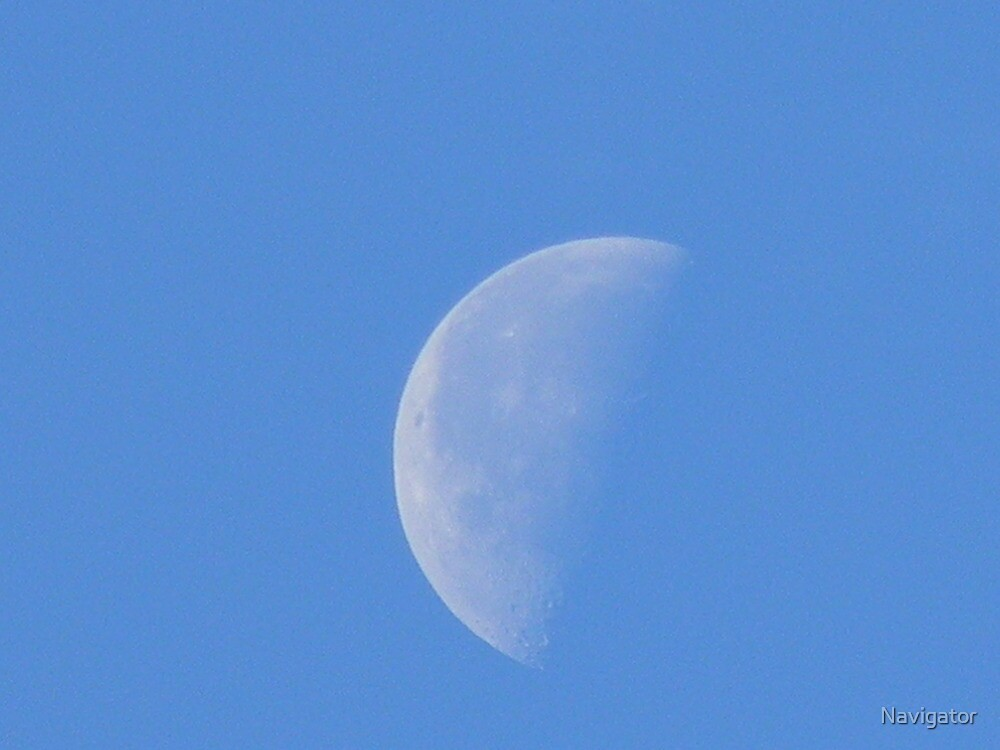 Morning Half Moon - Best Viewed Larger by Navigator