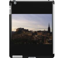 Edinburgh Castle from the National Museum of Scotland.   iPad Case/Skin
