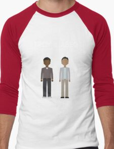 Troy & Abed in the Morning Men's Baseball ¾ T-Shirt