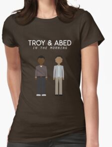 Troy & Abed in the Morning Womens Fitted T-Shirt