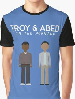 Troy & Abed in the Morning Graphic T-Shirt