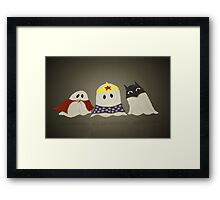 Ghost Superhero Cosplay Framed Print