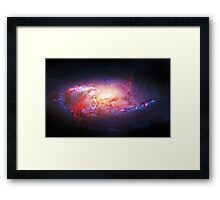 Spiral Galaxy, space, astronomy, colorful Framed Print