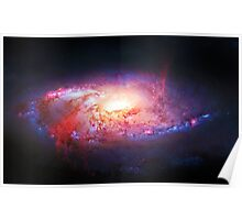 Spiral Galaxy, space, astronomy, colorful Poster