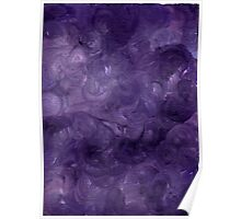 DREAMS OF PURPLE ON CANVAS Poster