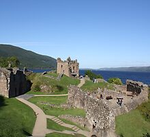 Urquhart Castle, overlooking Loch Ness by Katherine Case
