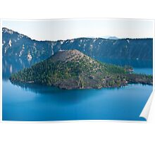 Wizard Island in Crater Lake Poster