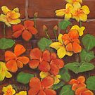 Nasturtium Wall by Michael Beckett