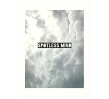 Spotless mind Art Print