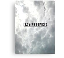 Spotless mind Canvas Print
