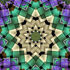 Quilted Star Weave-Available As Art Prints-Mugs,Cases,Duvets,T Shirts,Stickers,etc by Robert Burns
