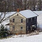 Forgotten Farmhouse... A Closer Winter View by Gene Walls