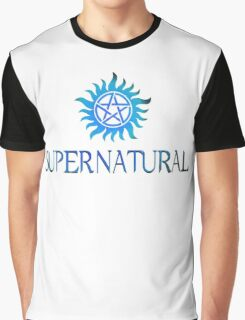 Supernatural logo in BLUE Graphic T-Shirt