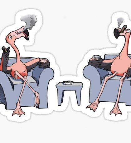 Boston Legal Flamingos  Sticker
