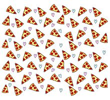 Pizza + Hearts Photographic Print