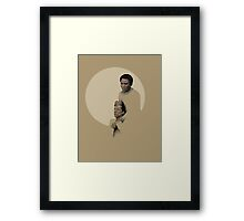Troy and Abed being sad Framed Print