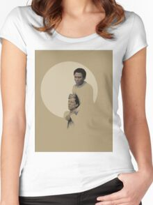 Troy and Abed being sad Women's Fitted Scoop T-Shirt