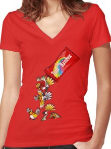 comes in shiny flavour Women's Fitted V-Neck T-Shirt