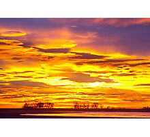 Sunrise Bright Union Reservoir Photographic Print