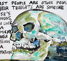 SKULLS QUOTING OSCAR WILDE - 10 by lautir