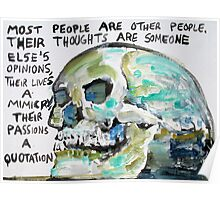 SKULLS QUOTING OSCAR WILDE - 10 Poster