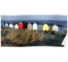 Southwold Beach Huts, Suffolk Poster