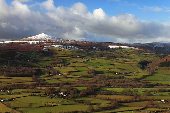 Sugar Loaf snowy summit brecon beacons wales by blakmountphoto
