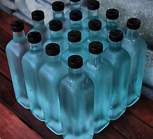 16 blue bottles by andreisky