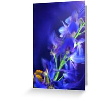 Blue flowers (no text) Greeting Card