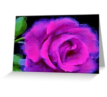 I Love You - fuchsia rose (without text)  Greeting Card