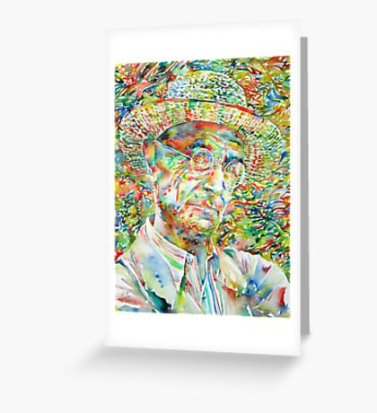 HERMANN HESSE with hat Greeting Card