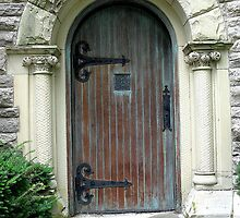 Doorway at Evergreen Cemetery, Southgate, KY by boondocksaint