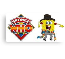 Sponge Who (Ver 2) Canvas Print