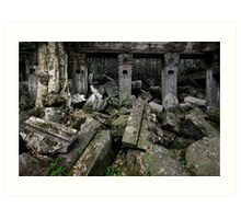 Amongst the Rubble, Cambodia Art Print