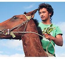 on my horse Photographic Print