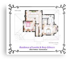 House of Lorelai & Rory Gilmore - First Floor Metal Print