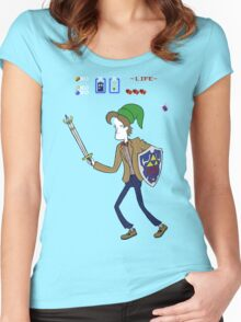 Ocarina of Timelord Women's Fitted Scoop T-Shirt