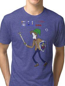 Ocarina of Timelord Tri-blend T-Shirt