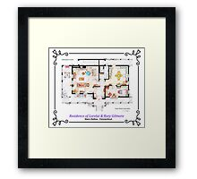 House of Lorelai & Rory Gilmore - Ground Floor Framed Print