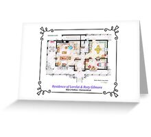 House of Lorelai & Rory Gilmore - Ground Floor Greeting Card