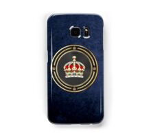 Imperial Tudor Crown over Blue Velvet Samsung Galaxy Case/Skin
