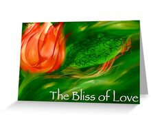The Bliss of Love (with text) Greeting Card
